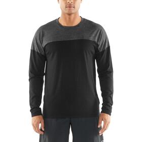 Icebreaker Kinetica Koszulka do biegania z długim rękawem Mężczyźni szary/czarny